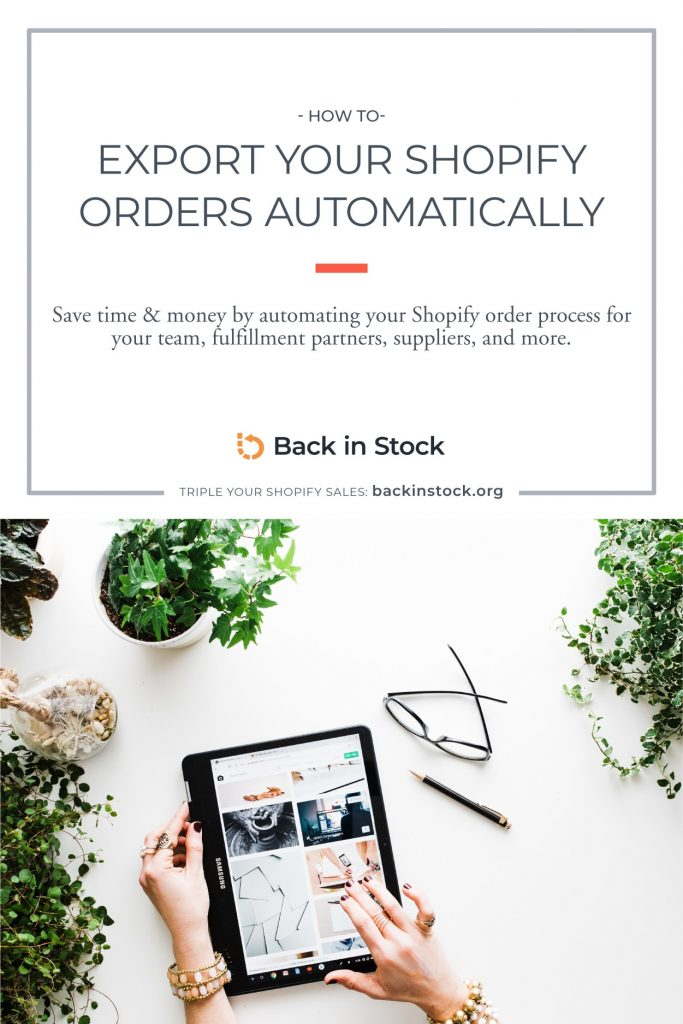 How to export Shopify orders automatically