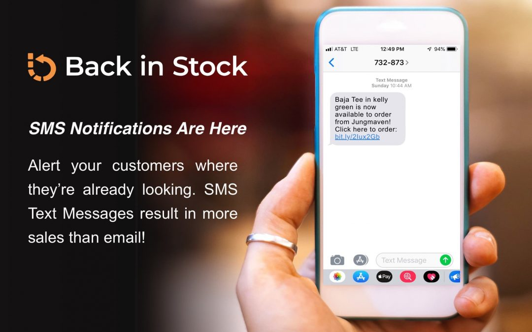Shopify BackInStock SMS Notifications Are Here!