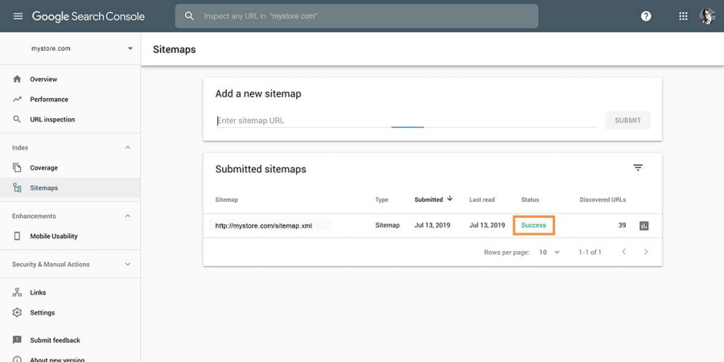 Shopify SEO Checklist Step 1: Checking Your Google Search Console Sitemap Status