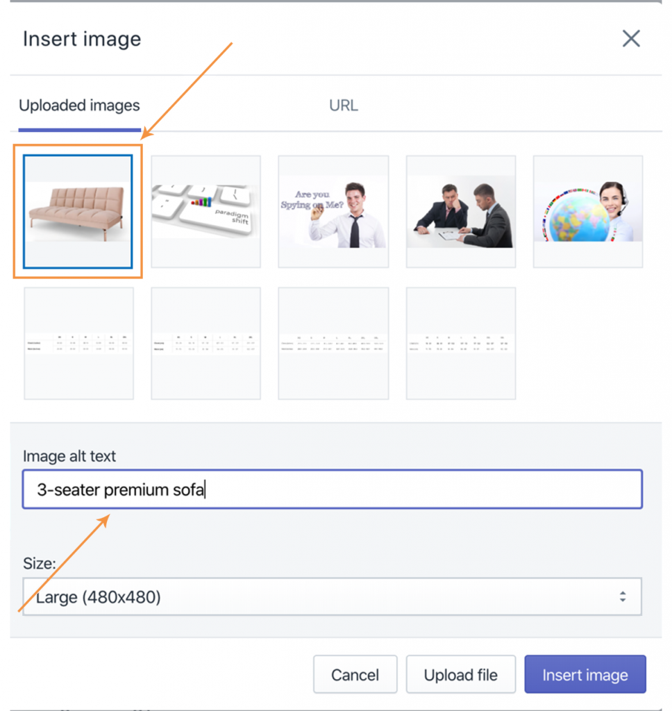 How to add an 'alt tag' to an image inside your Shopify account