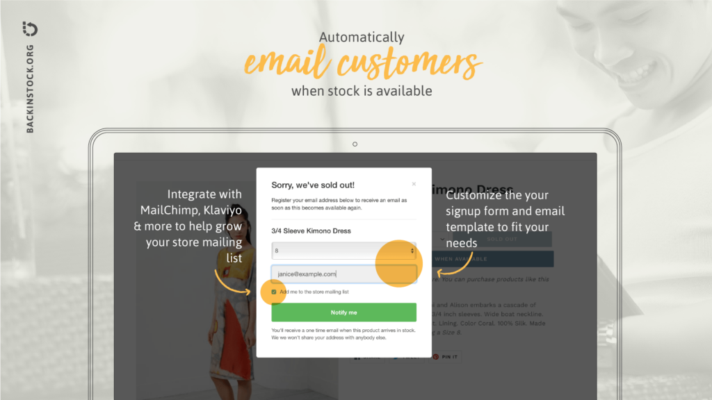 Back in Stock Email Automation